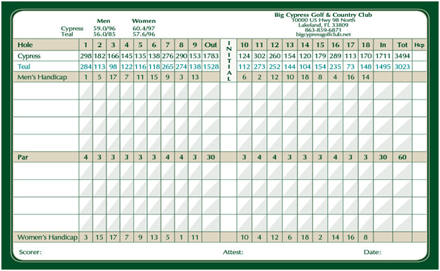 north-course-card